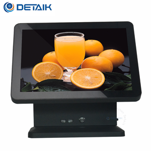 "High Equipment Pos 15Inch Touch Screen All In One Pos Terminal With 10.4""Second Monitor"