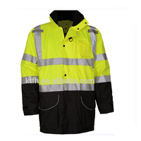 Orange reflective winter jacket Hi-Viz workwear jacket suit
