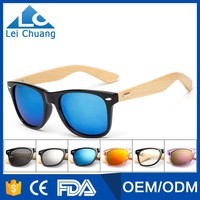 2016 fashionable classical sun glasses custom logo bamboo wooden sunglasses
