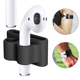 Portable Compact Soft Anti-lost Silicone TWS Wireless Earphone Holder Strap Carrying Case Skin Cover for Apple AirPod