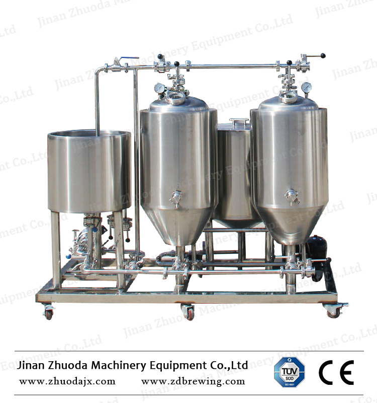 50 100l Micro Brewing Machine Used Beer Making Brewery