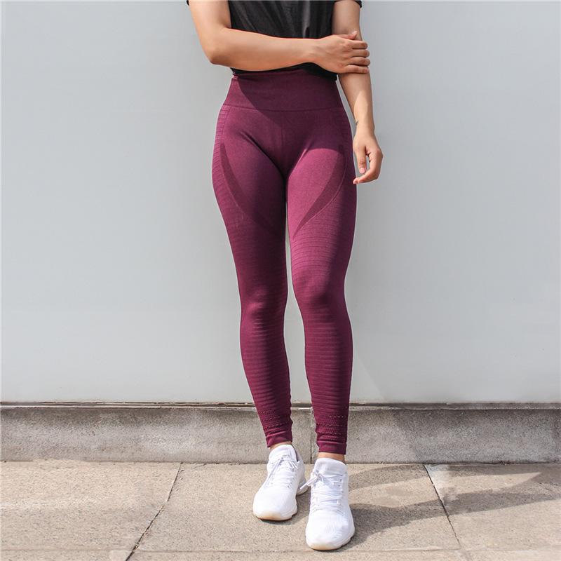 ที่มีคุณภาพสูงเอวสูงออกกำลังกาย Seamless ยกก้นก้นโยคะ Leggings