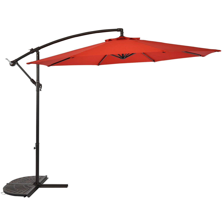 Get Quotations Sunlono 10 Ft Offset Cantilever Umbrella Hanging Outdoor Market Patio For Deck Garden