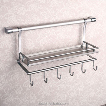 Wall Mounted Stainless Steel Kitchen Utensil Holder