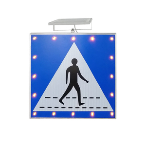Aluminium board LED walking warning Solar informative traffic signs