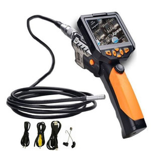 180 degree image rotation built in dvr borescope endoscope inspection snake camera with 3.5'' monitor video recording BS-GD04