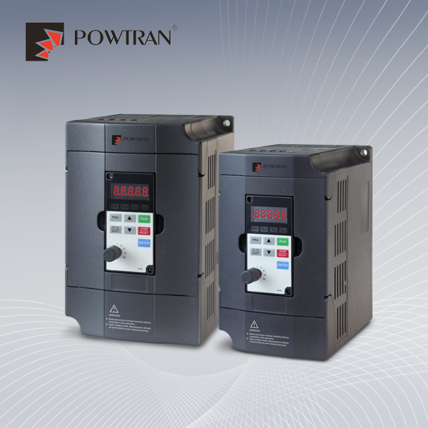 POWTRAN three phase AC drive 380v 0.4kw to 3.7kw smart size vector control