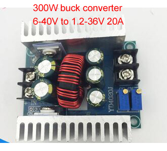 20A 300W DC DC Step Down Buck Converter Adjustable constant voltage Current LED Driver battery charger module 6-40V to 1.2-36V