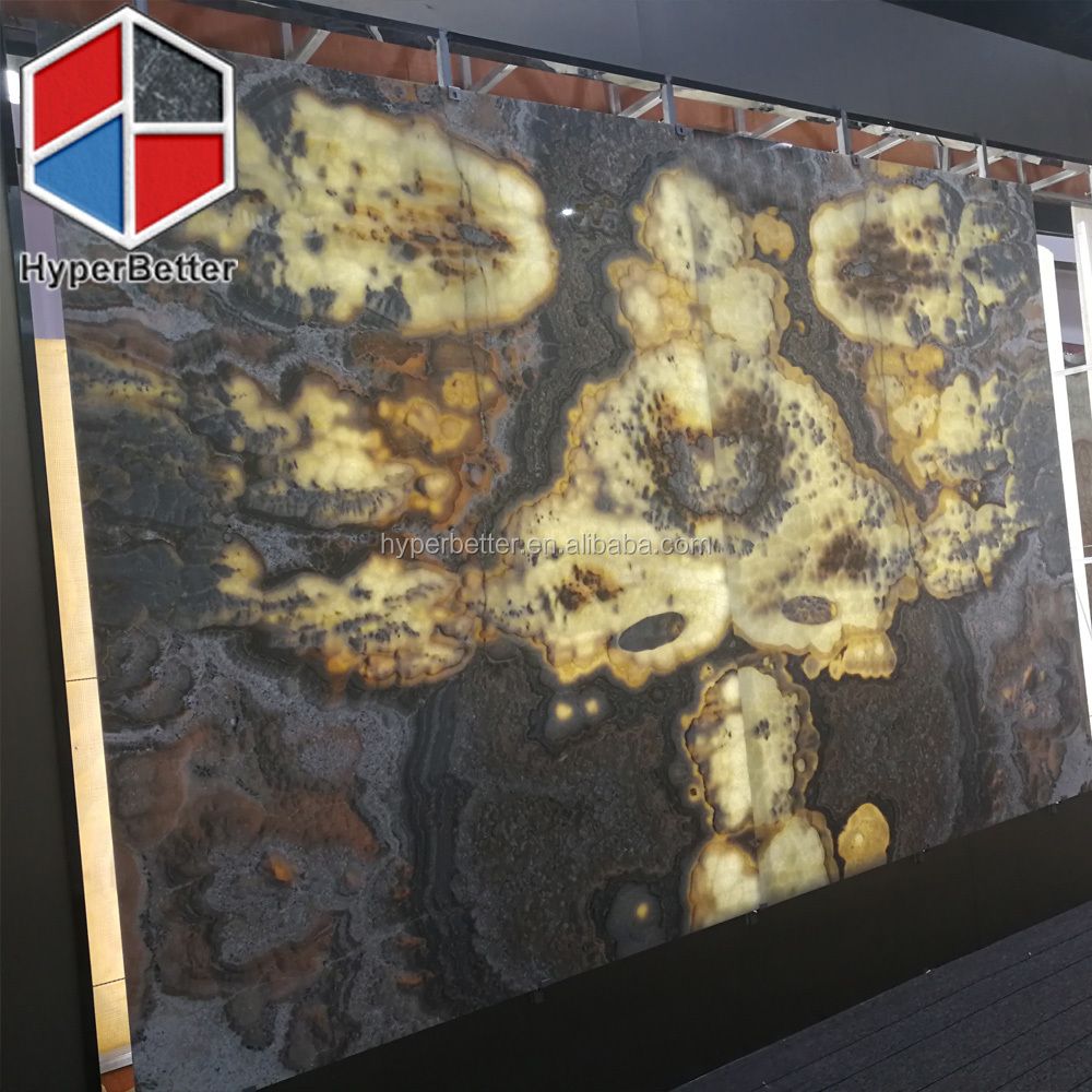 Exotic onyx slabs for wall