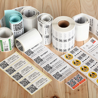Serial Number Printing Barcode Label Printed Variable Data 2D Barcode Sticker Security Label