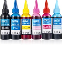 Asta Cheap Color Refill Dye Ink for Epson T6641 T6642 T6643 T6644