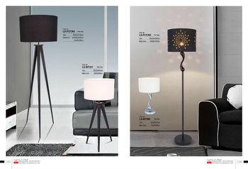 Moderne driepoot vloerlamp verstelbare houten vloer lamp pcf