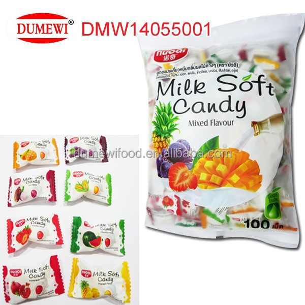 Individueel verpakt Halal Jelly Chew Candy Mix Fruit Candy