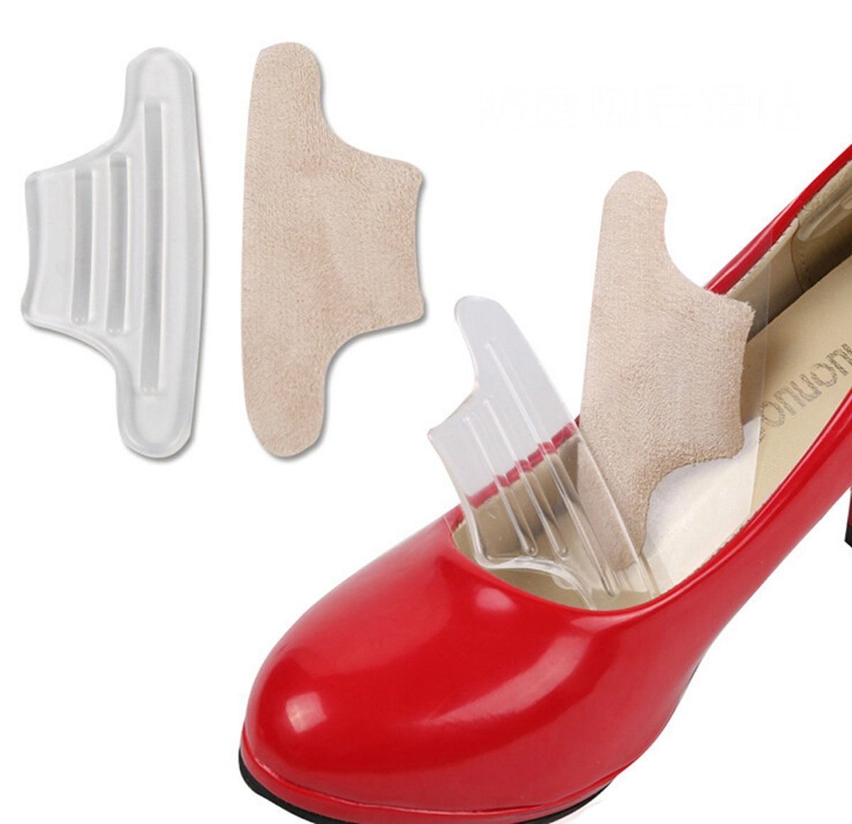 2PCS High Heel Shoe Cushion Insole Pad Grip Self Adhesive Inserts Back Blisters*