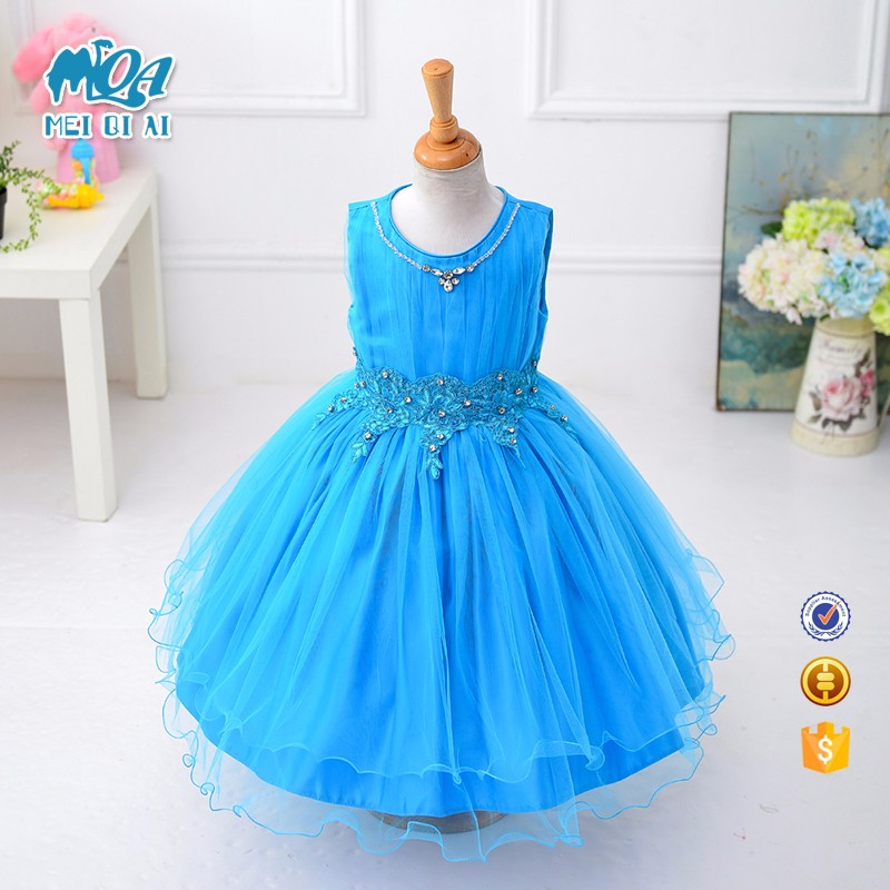 Factory Direct Price Latest Children Frock Designs For Kids Flower Girls' Dresses L15071