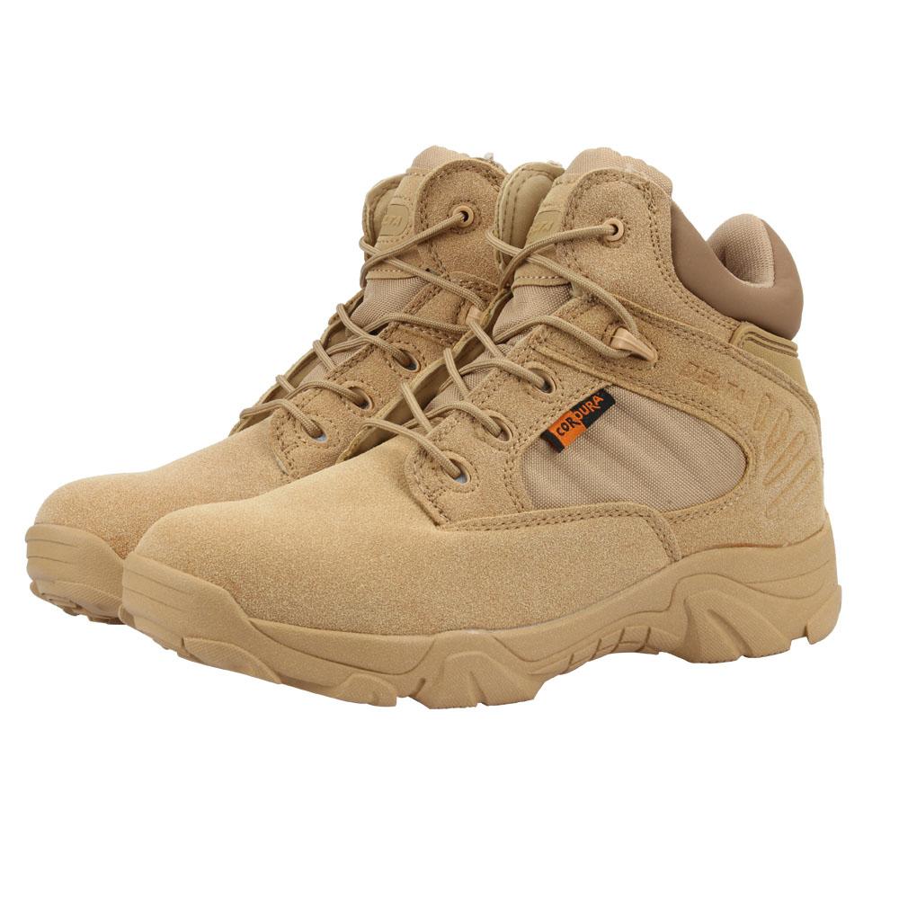 Compre Zapatos De Senderismo Impermeables Al Aire Libre Para Hombres Botas De Cuero De Alta Calidad Botas De Combate Tácticas De Fuerza Especial Para