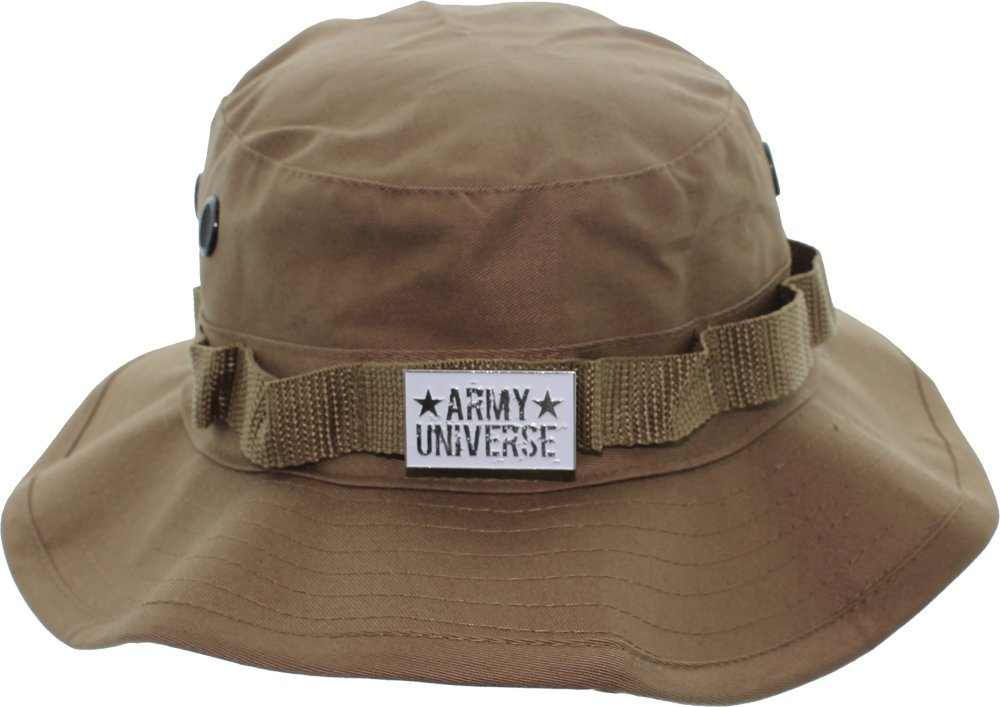 Camouflage Hunting Fishing Wide Brim Boonie Bucket Hat with ARMY UNIVERSE  Pin 1c91a362a04