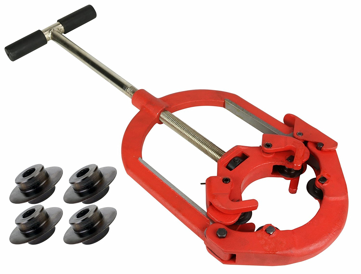 """Toledo Pipe H6S 4""""-6"""" Heavy Duty Hinged Pipe Cutter fits RIDGID & REED Wheels with Extra Cutter Wheels"""
