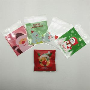 Self Adhesive Bakery Candy Biscuit OPP Plastic Packaging Bags for Christmas Party Dessert