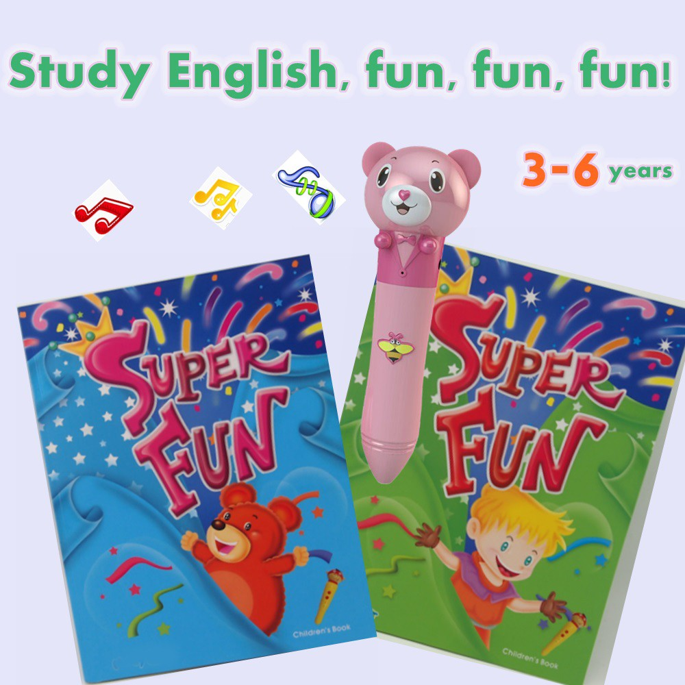 OEM Supplier Kids Talking Pen with Eco Environmental Material English Book Super Fun 6 Books for Smart Kids EB13