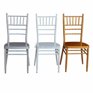 Gold Silver White Party tiffany chivari chair for outdoor wedding