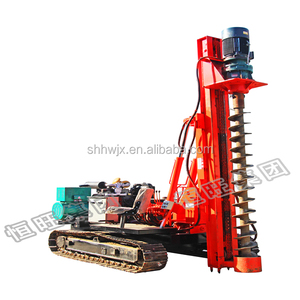 photovoltaic solar pile driver for ground screw mounted pile machine