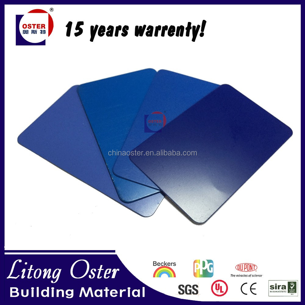 Blue Aluminium Composite Panel 4mm 6mm ACP board for table tennis panel