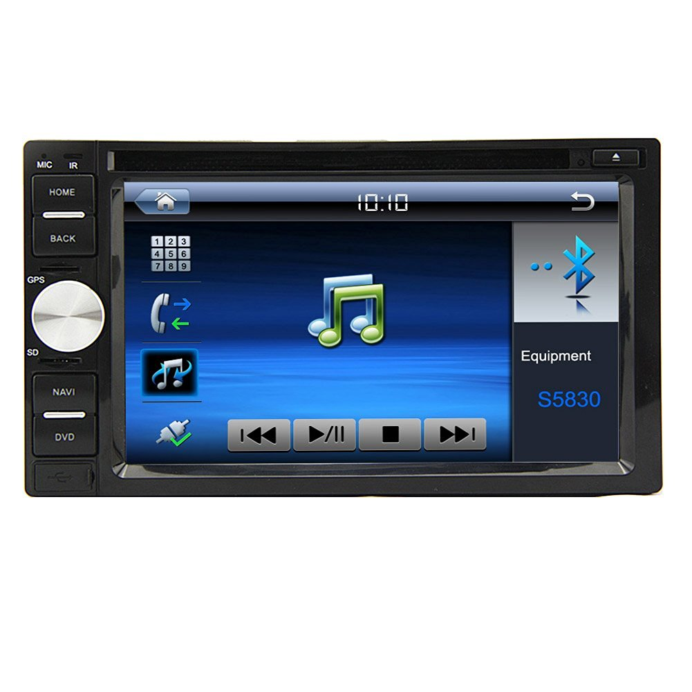In Dash Car CD DVD Audio Stereo Bluetooth for Radio Streaming Music Radio 6.2 Inch Double Din CD DVD Touchscreen Car Video DVD Double 2 Din Player USB/SD/CD AM/FM Auto Head Unit Radio