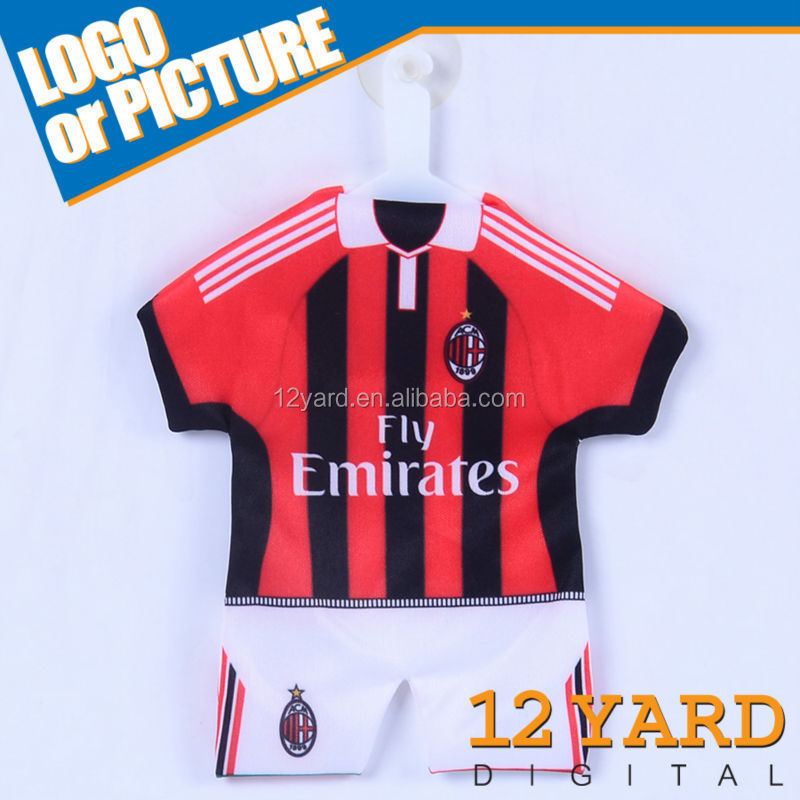 Hot Selling AC milan Mini T-shirt,Car decoration Car Window football team Mini T-shirt