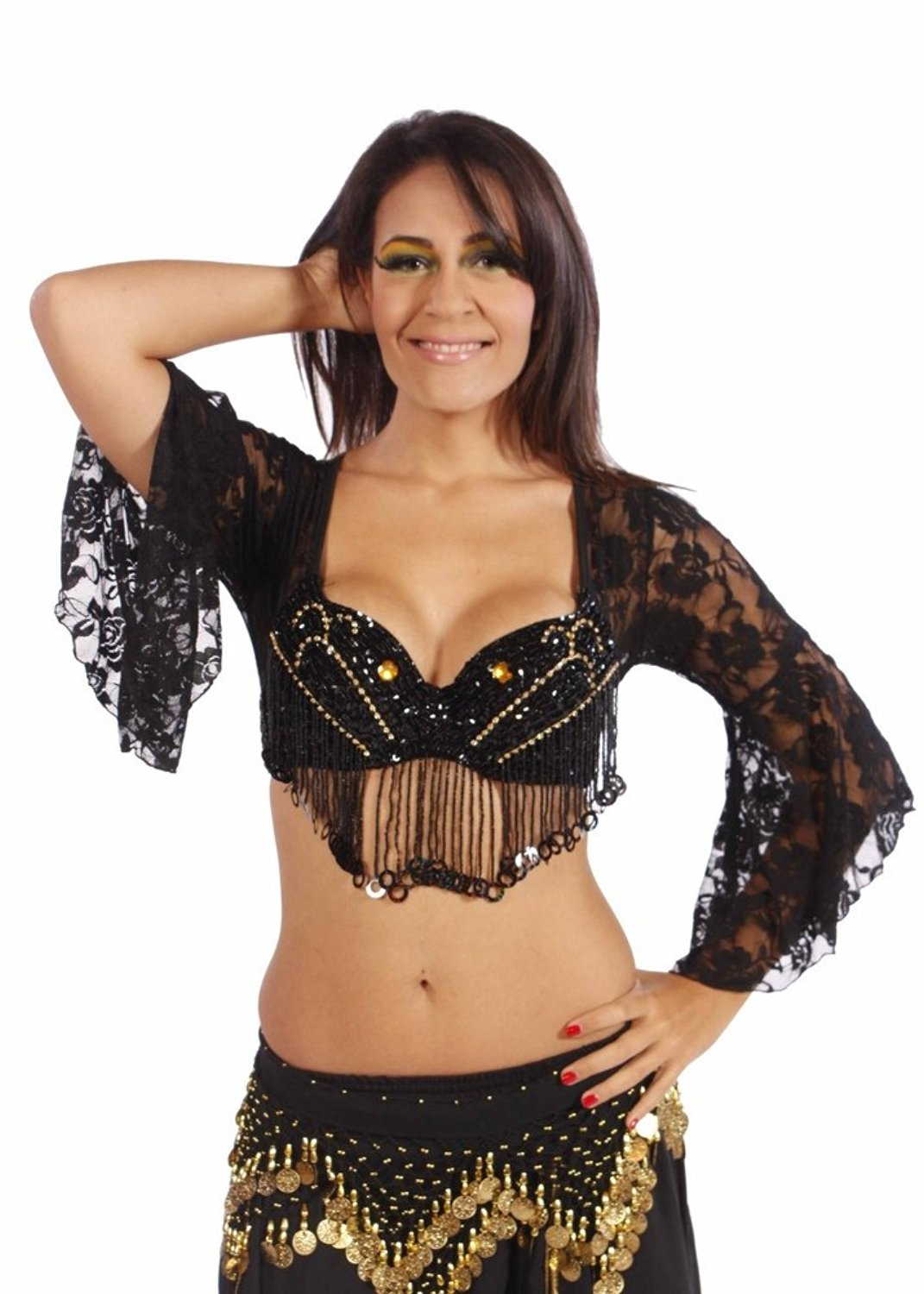 a8667beeb Cheap White Tribal Belly Dance Top