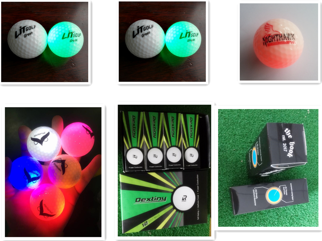 Glow in Dark LED Light Up Golf Balls Official Size Weight