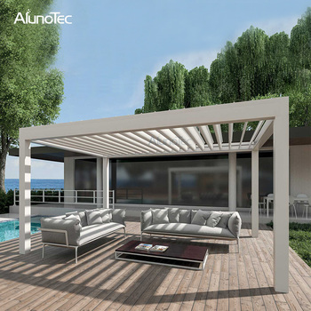 Charmant Easily Assembled Electric Louvered Pergola Sun Roof Louvers For Patio Cover