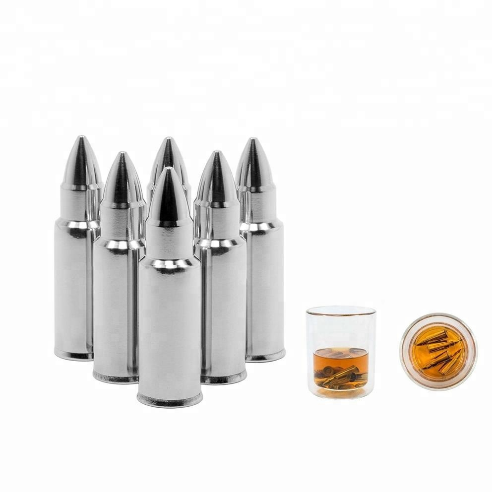 Bullet Shape Stainless Steel Whiskey Stone Ice Chilling Rocks
