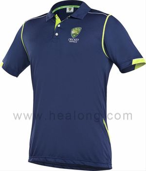 Healong digitally printed Buy Australian Cricket Shirt uv-protection