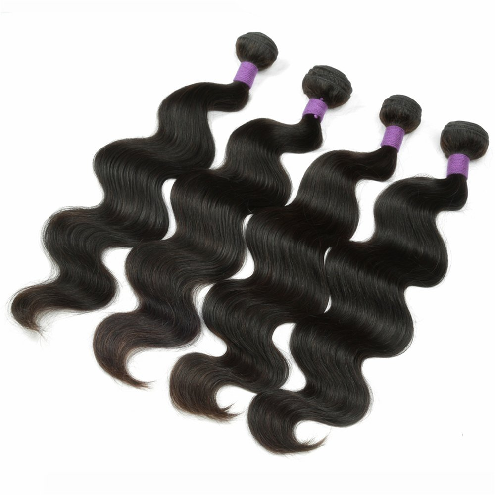 "8A Malaysian Body Wave Virgin Hair 4 Bundles Natural Color 10""12""14""14"" 100g/Bundle 8-28"" Brazilian/Peruvian Body Wave Hair Extensions In Stock No Tangle No Shedding"