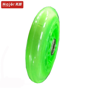 Skateboard spare parts 100mm 4 inch scooter solid tire pu caster wheel