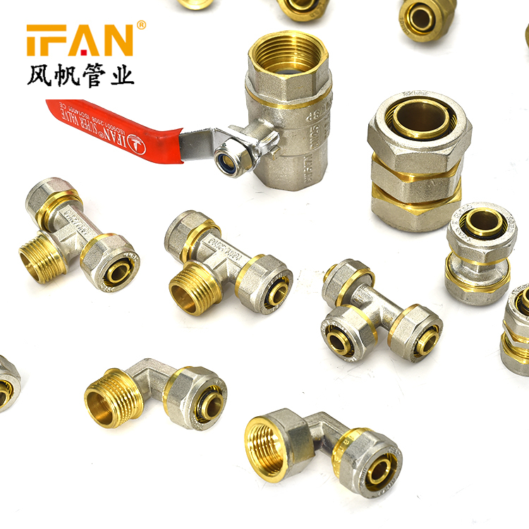 High Quality Wholesale PEX Fittings 16mm 18mm 20mm Brass Tee for PEX Pipe