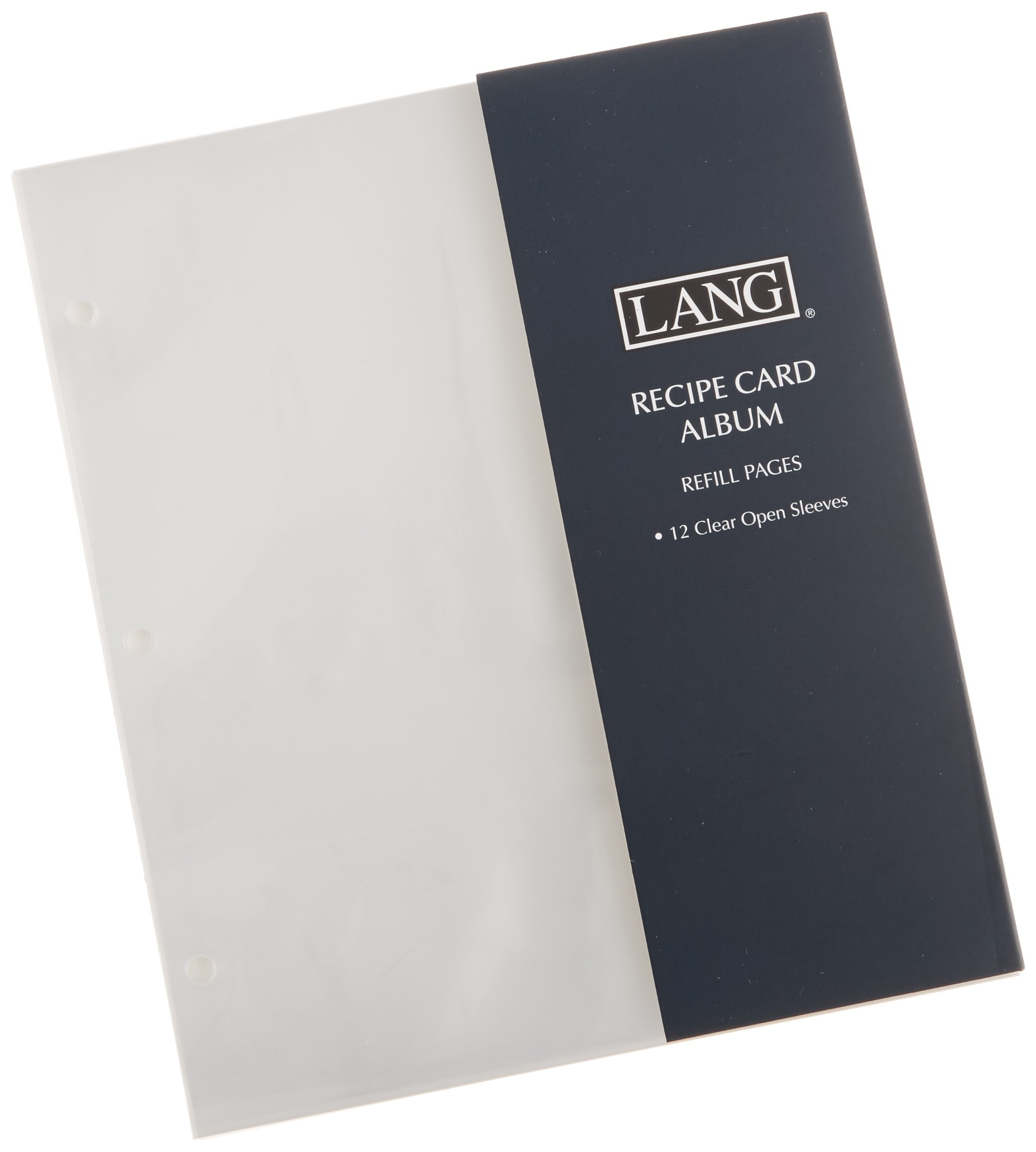Lang Refill Pages, Open Sleeve for Recipe Card Album