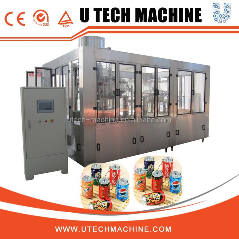 Fermentation Drinks Filling Line / Beer Canning Equipment