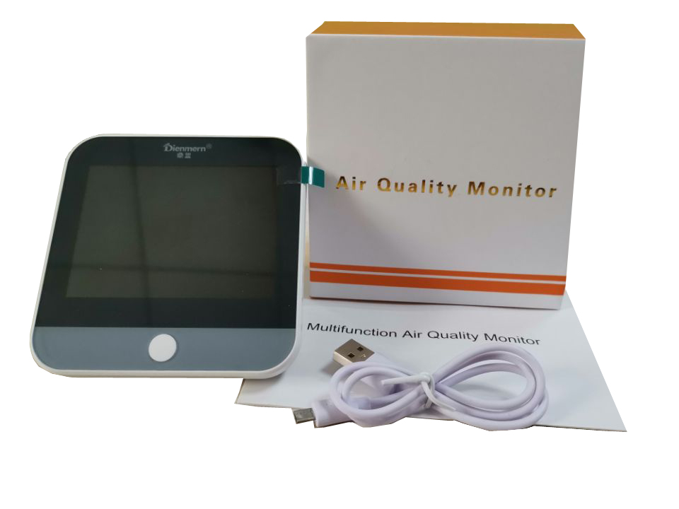 Smart Air Quality Detector PM2.5 gas monitor AQI Formaldehyde with Laser sensor High sensitivity Air detector TVOC/AQI