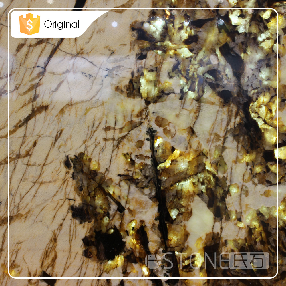 2015 Wholesale Polished Golden Tree Importing Granite From China