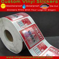 Self Adhesive Vinyl Paper Customized Rolls Plastic Bottle Label Printing