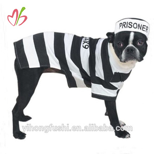 PRISON COSTUMES for DOGS - Dress Your Pup Like a Prisoner in Stripes - Bad Dog