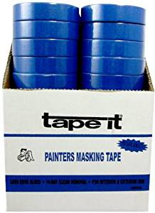 """Painters Blue Masking Tape - .94"""" X 67Ft [48 Pieces] - Product Description - Blue Painters Masking Tape - .94""""(1""""Use) X 67 Ft - Premium First Quality Blue Painters Masking Tape - 14 Day Clean Removal -Uv & Sunlight Resistant Blue Painter Masking ..."""