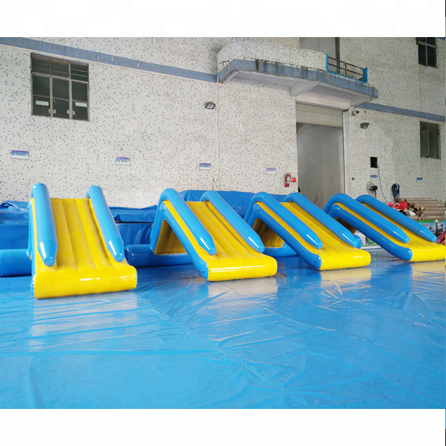 PVC inflatable small water slide for lake / inflatable pool water slide / mini water slide