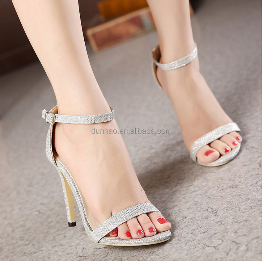 6ed81e83f8f6 2016 Fashion Design Women s High Heel Shoes Open Toe Sandals ...