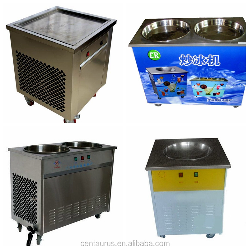 CE R410A high quality compressor single pot pan with six cooling holes fry ice machine best service