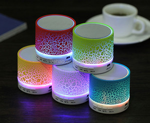 Factory Whosale A9 led light portable mini wireless 2.1 speaker