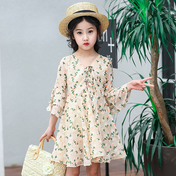 Hot Selling Girls Princess Chiffon Summer Dress Kids Clothing Dress
