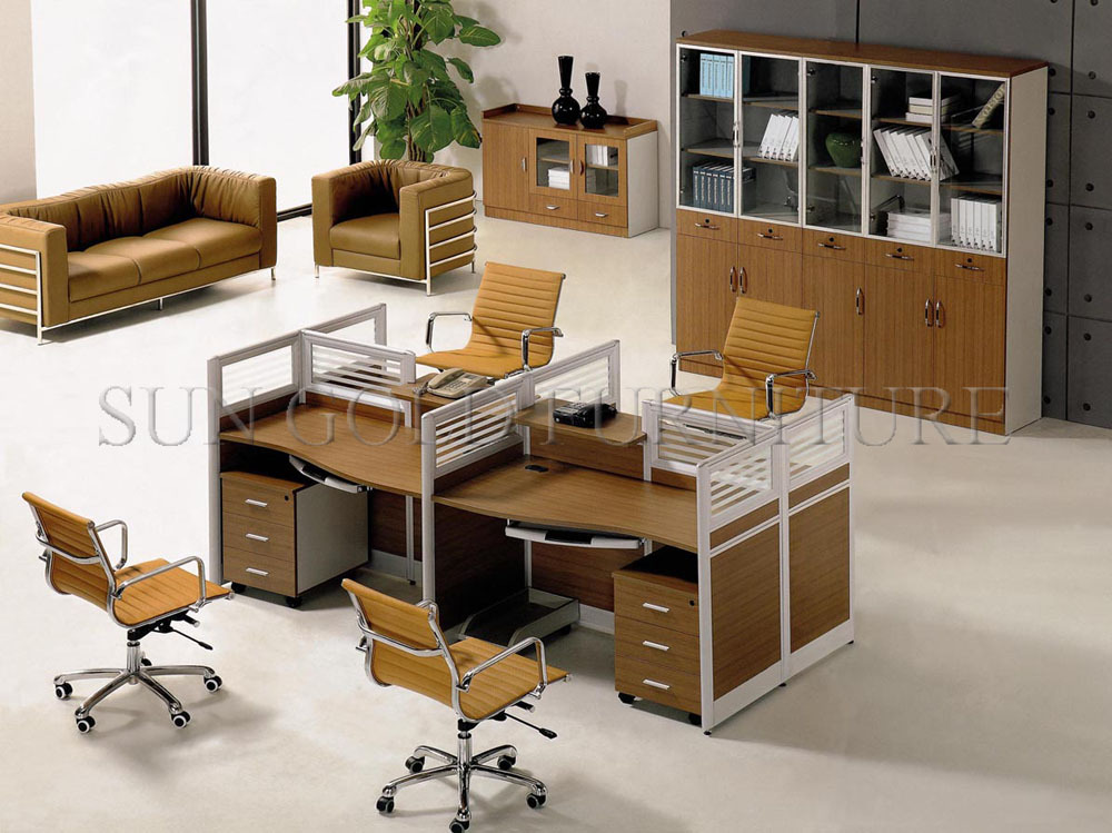 Duurzaam glas ontwerpen stoel kantoor werkstation kast in